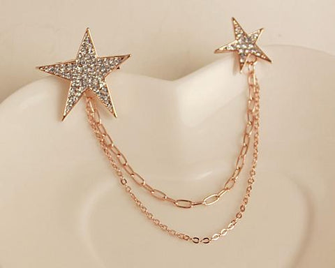 Twinkle Stars Crystal Brooch Pin
