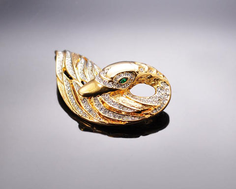 Swan Sea Brooch Pin