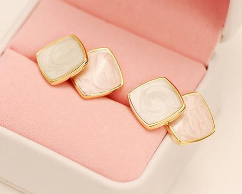 Swirling Pink Earrings Studs for Women