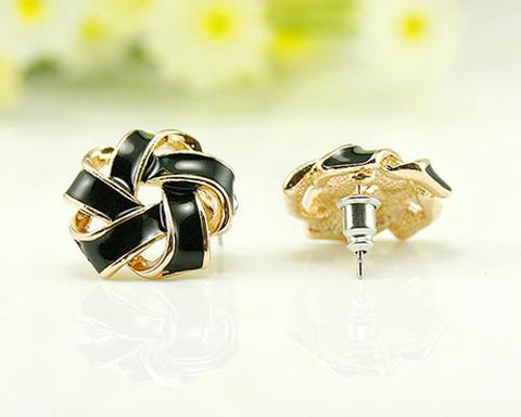 Spiral Flower Stud Earrings for Women