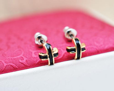 Stylish Cross Stud Earrings for Women Girls