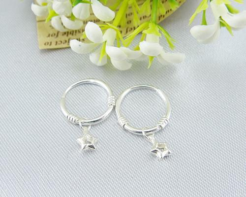 925 Sterling Silver Earrings Star Earrings for Women