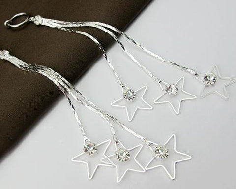 Tassel Stars Crystal Earrings Dangle Earrings for Women