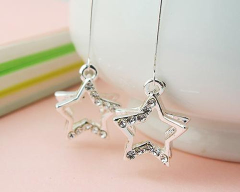Dangle Earrings Star Shaped Crystal Hook Earrings