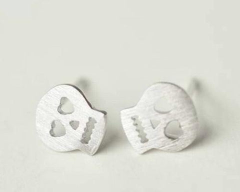 925 Sterling Silver Earrings Skull Stud Earrings