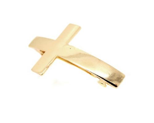 Golden Cross Hair Clip