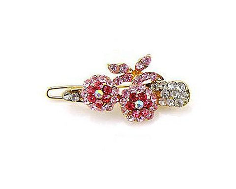 Lovely Cherry Crystal Hair Clip