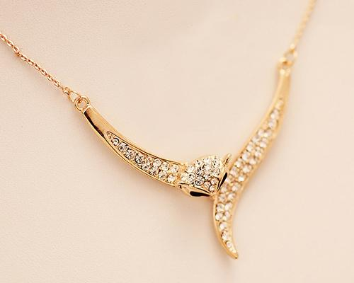 Fox Crystal Necklace