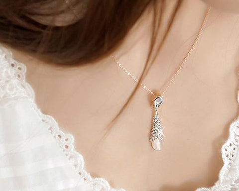 Drops Dangle Crystal Necklace