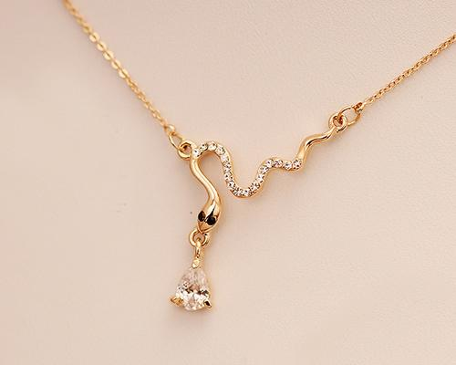 Snake Crystal Necklace