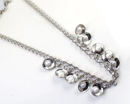Adorned Pearl Necklace