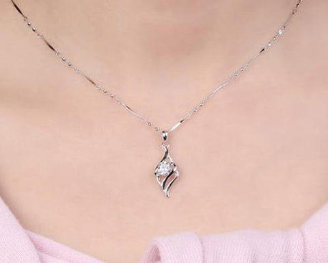 Wings of Angel Crystal Necklace
