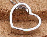 Open Heart 925 Sterling Silver Necklace