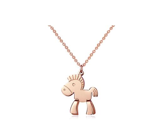 Little Horse Golden Necklace