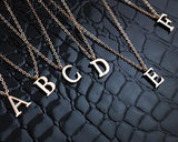 18K Gold Plated Personalized Initial Letter Pendant Necklace - A-Z