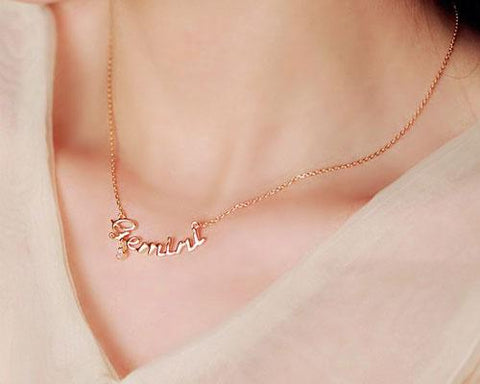 Constellation Libra Crystal Necklace