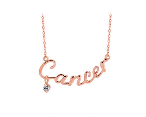 Constellation Cancer Crystal Necklace