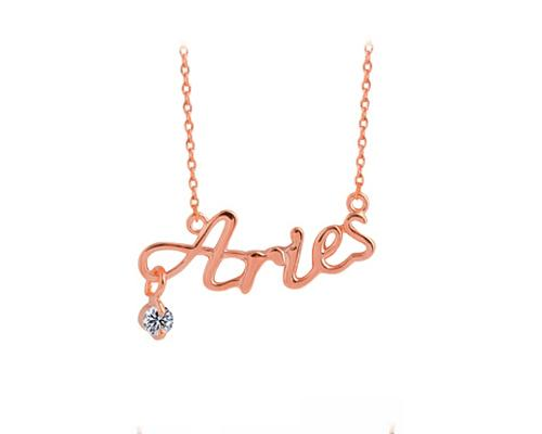 Constellation Aries Crystal Necklace