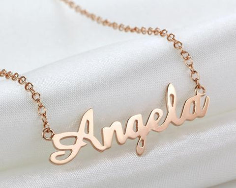 925 Sterling Silver Personalized Custom Name Pendant Necklace
