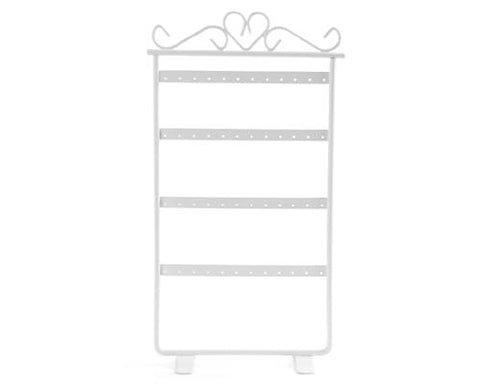 Elegant Metal Jewelry Earring Organizer - White