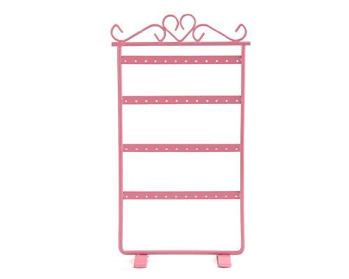 Elegant Metal Jewelry Earring Organizer Stand - Pink