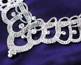 Noble Rhinestone Wedding Necklace and Crown and Earrings Jewelry Set