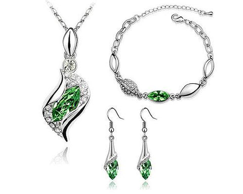 Classic Series Crystal Jewelry Set - Green