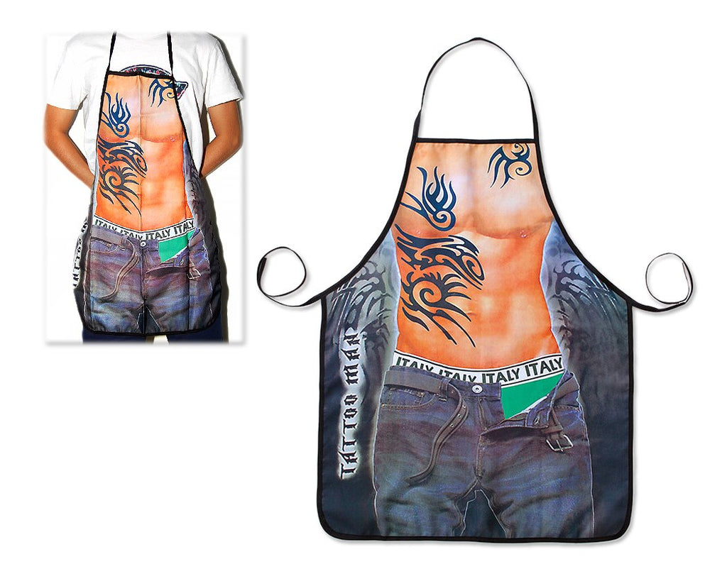 Sexy Kitchen Apron for Men Funny Cooking Aprons