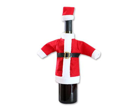 Christmas Santa Suit Wine Bottle Cover