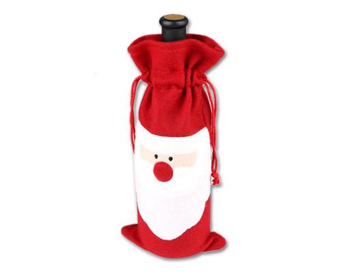 Christmas Santa Claus Wine Bottle Cover Gift Bag