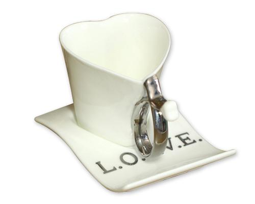Heart Shaped Love Ceramic Coffee Cup