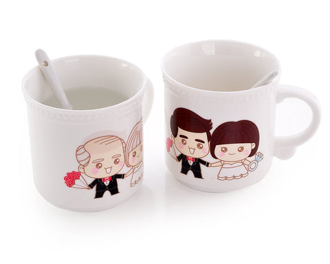 Forever Love Series Color Changing Couple Coffee Mug