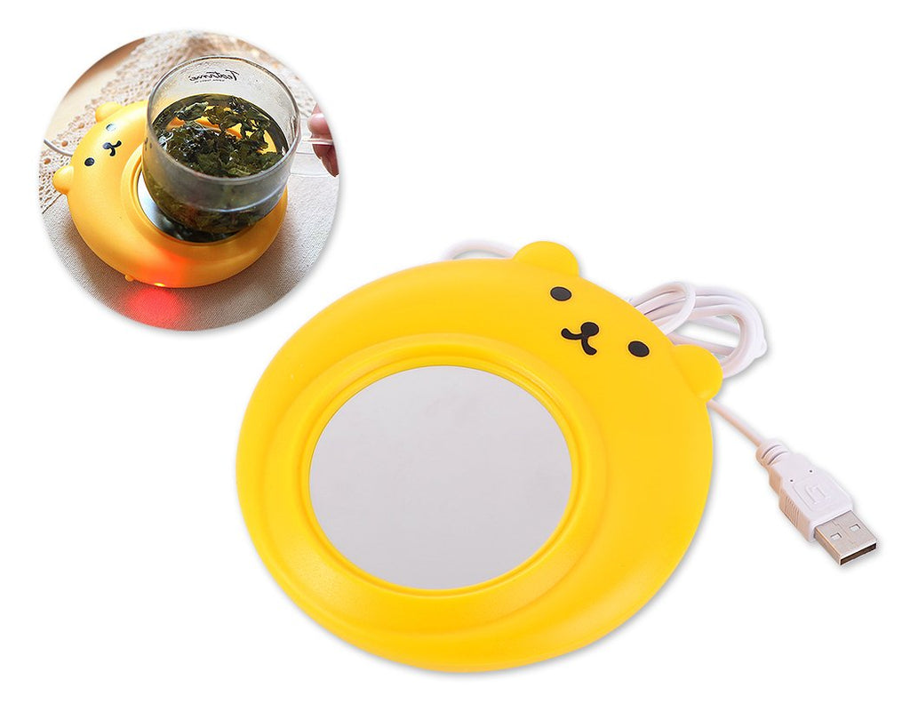 Cute Bear Series Desktop USB Cup Warmer - Yellow