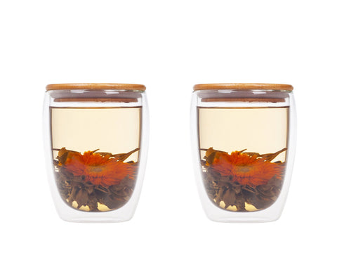 Double Walled Coffee Glasses Set of 2