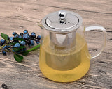 Trapezium 700ml Glass Teapot with Stainless Steel Infuser
