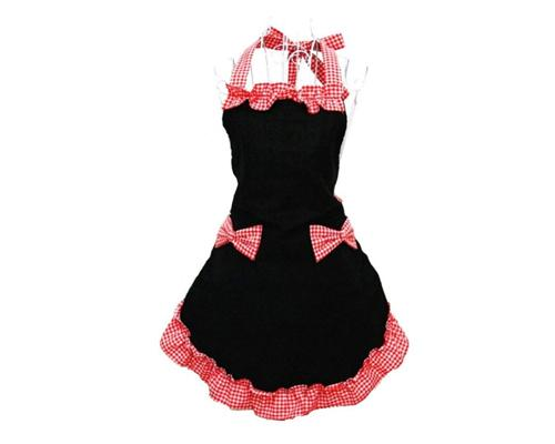 Adjustable Cotton Flirty Kitchen Apron with Pockets