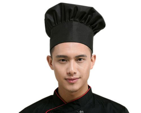 Mushroom Style Adjustable Chef Hat with Elastic Band