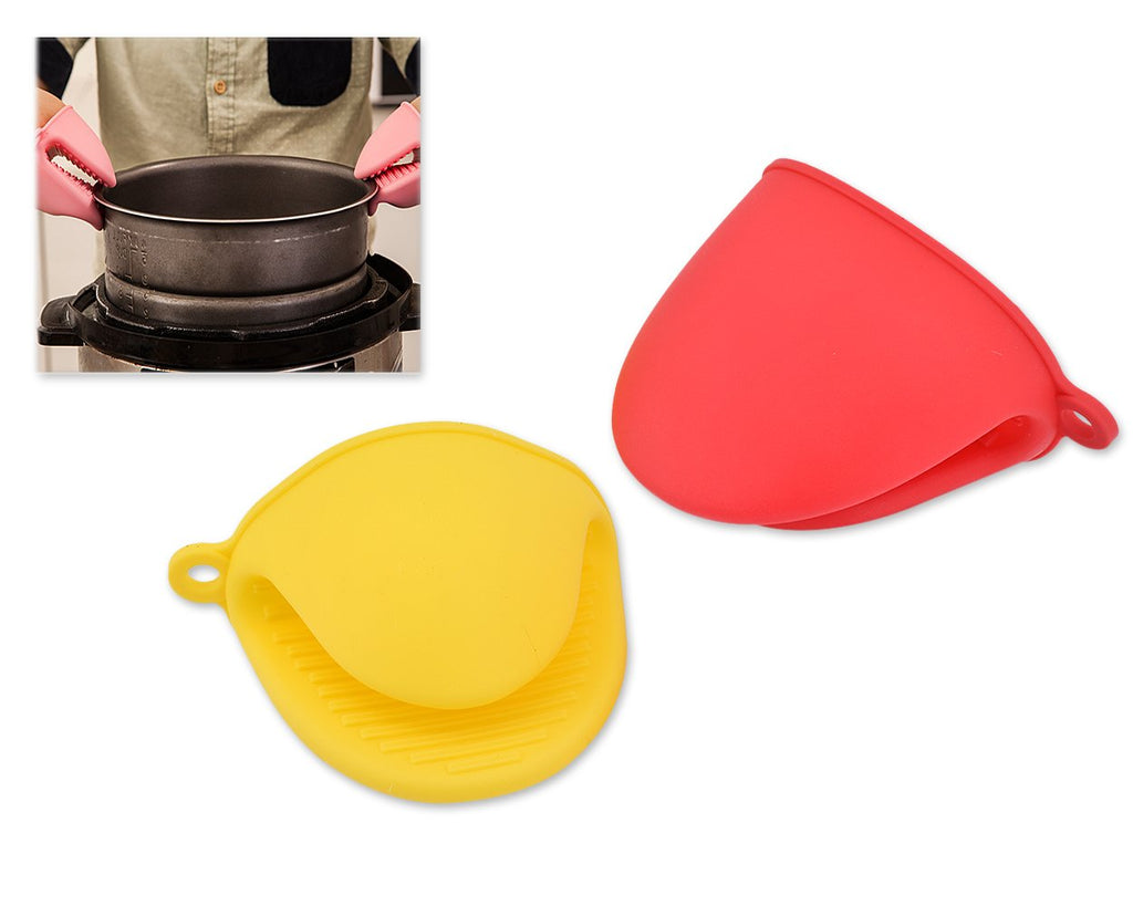 2 Pieces Silicone Pot Holders Oven Mitt Pinch Grip - A