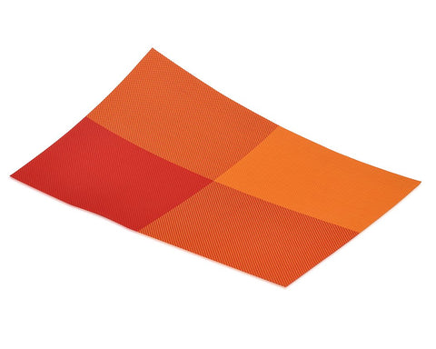 6 Pcs Colorful Insulated Stain Free Table Placemat - Orange