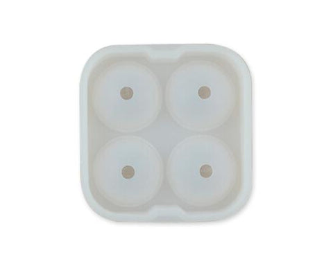 4.5cm Flexible Silicone Ice Balls Molds - White
