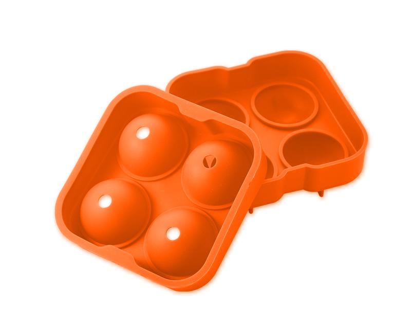 4.5cm Flexible Silicone Ice Balls Molds - Orange