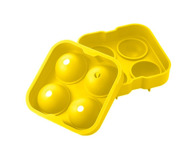 4.5cm Flexible Silicone Ice Balls Molds - Yellow