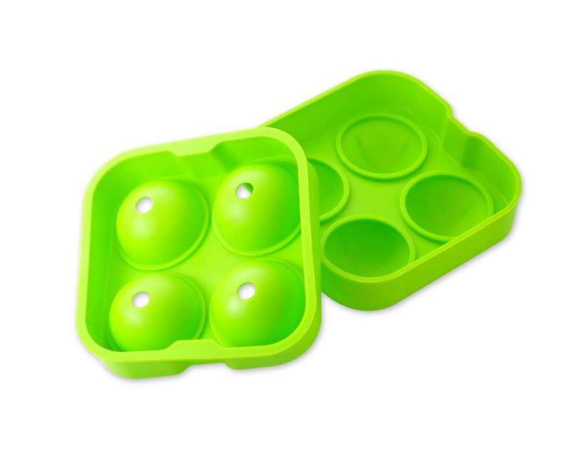 4.5cm Flexible Silicone Ice Balls Molds - Green