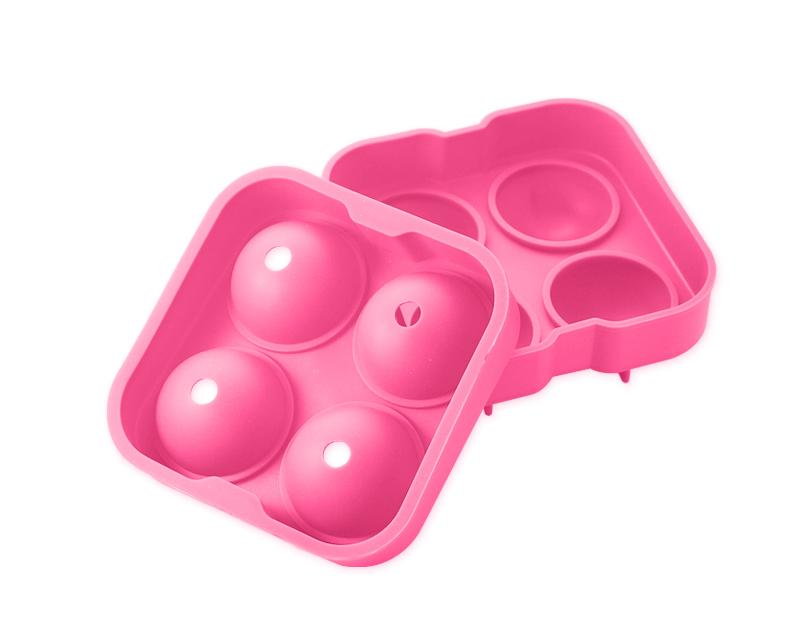 4.5cm Flexible Silicone Ice Balls Molds - Pink