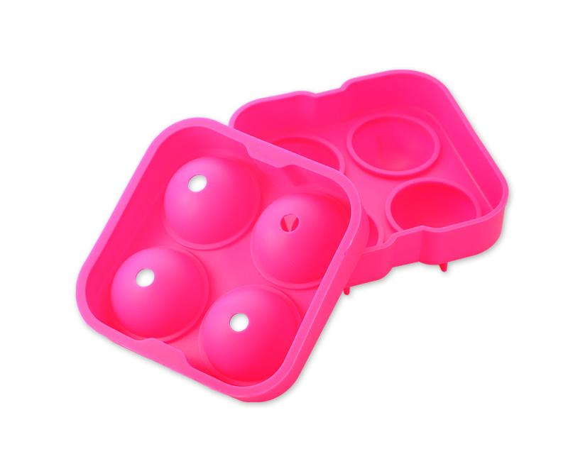 4.5cm Flexible Silicone Ice Balls Molds - Magenta
