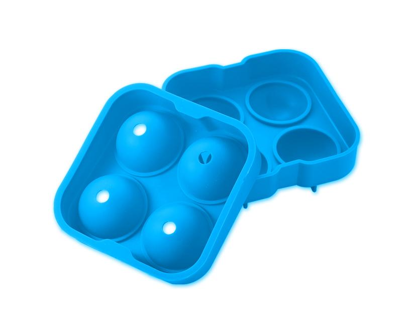 4.5cm Flexible Silicone Ice Balls Molds - Sky Blue