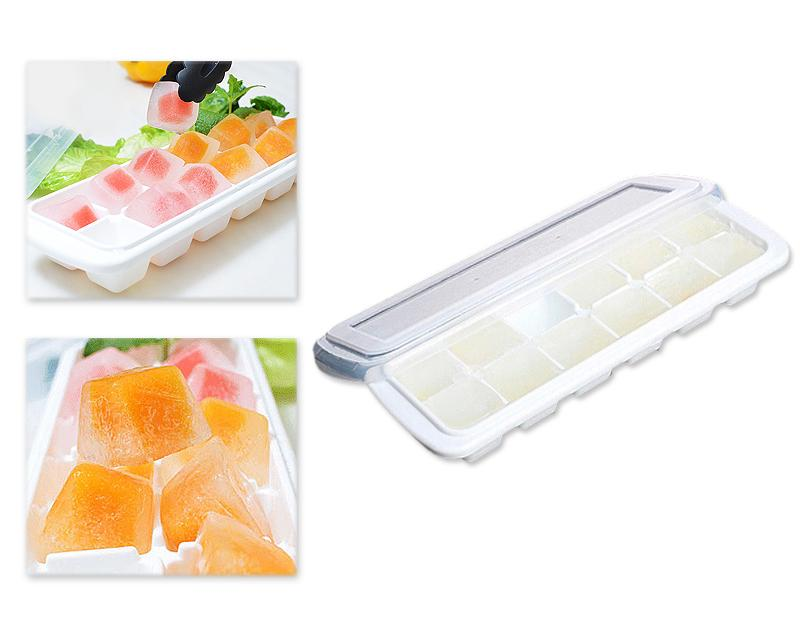 12 Grids Flexible Ice Cube Tray