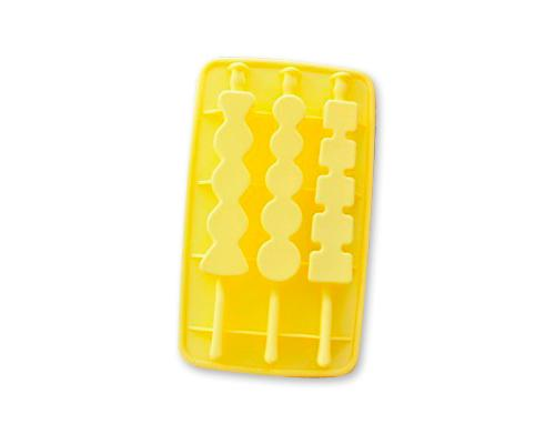 Silicone Multi Shapes Ice Pop Maker - Yellow