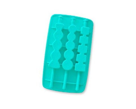 Silicone Multi Shapes Ice Pop Maker - Blue