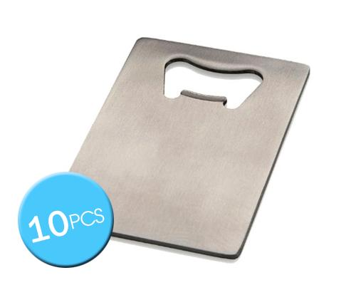 10 Pcs Stainless Steel Credit Card Size Bottle Opener for Your Wallet